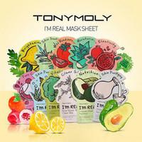 Wholesale Tonymoly Wholesale - Tonymoly I'm REAL Facial Mask Sheet Korea Face Care Moisturizing Skin Care Aloe Vera Powder Face Mask DHL Free Shipping