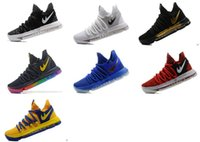 2017 De qualidade superior FMVP KD 10 mulher Casual Basketball Shoes para Warriors Home Colours Wolf Kevin Durant 10s KD10 Sports Sneakers US 36-40