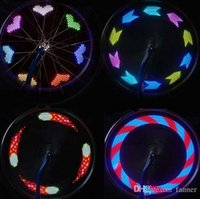 MTB Wheel Tire Valve 7 LED 5050 SMD Spoke Light Фонарик 12 Pattern Colorful Led lights
