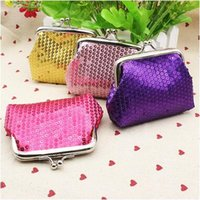 Wholesale Earphone Pocket - Portable Sequins Mini Wallet Coin Purse Keys Wallet Pocket Case Cosmetic Makeup Sorter Earphone Bag Colorful Headphone Box Christmas Gifts