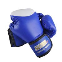 Wholesale Kickboxing Gloves - Suten Brand Pu Boxing Gloves Kickboxing Mma Training Equipment Fighting Sandbag Glove Suteng Sanda Glove White Top Design