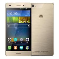 двухъядерный смартфон оптовых-Восстановленное в Исходном Huawei P8 Lite 4 Г LTE 5.0 дюймов Кирин 620 Octa Core 2 ГБ RAM 16 ГБ ROM 13MP Dual SIM Android Смарт Сотовый Телефон DHL 1 шт.