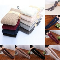 Wholesale Thick Thigh High Socks Wholesale - Wholesale- Women Warm Winter Over The Knee Socks Sexy Thigh High Thick Lovely Girls Princess Knee High Long Socks Striped Cotton Stockings