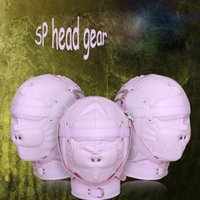 Wholesale Men Adult Novelty Toys - sex Toys For woman men headgear Pink PU Leather Band vent hoods Flirting Toy Collars Novelty Fetish Adult Games Sex Mask