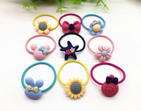 Wholesale childrens christmas jewelry resale online - Childrens matte leather band lap cartoon baby hair rope childrens jewelry