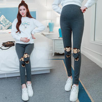 Wholesale Warm Winter Maternity Pants - 2017 high waist maternity pants for pregnant women maternity formal casual pants women fashion pants thicken keep warm Lovely baby monkey