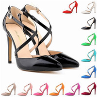 Wholesale Womens Size 11 Heels - Sapato Feminino Fashion Womens Stilettos High Heels Ankle Strap Sexy Sandals Summer Party Shoes US SIZE 4 5 6 7 8 9 10 11 D0089