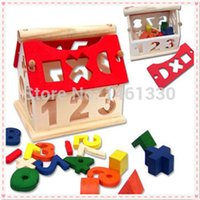 Wholesale Tangram Puzzle Jigsaw - Wholesale- Tangram Mini House wooden jigsaw puzzle educational toys for children scrabble wooden toy 3d jigsaw puzzle Wisdom House puzzle