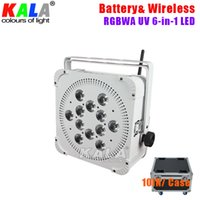 Silent Fan di raffreddamento Fan alimentato a batteria DMX 12x18W RGBWA UV 6in1 LED Par Light / Uplights