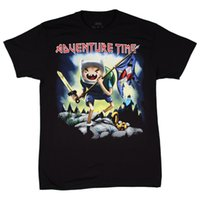 Wholesale Cheap Adventure Time - Adventure Time Metal Fantasy Trooper Men's Black Cotton T-Shirt Men 2017 Summer Fashion New Spring and summer printing Cheap sold