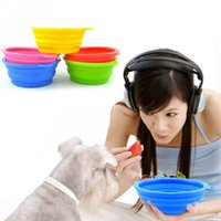 Wholesale Drinking Bowls For Dogs - Silicone Collapsible Pet Dog Bowl Food Water Feeder Portable Foldable Drinking Bowls Products For Dogs