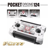 Wholesale Micro Mini Rc Helicopters - 2016 Free Shipping Drone FQ777 124 Micro Pocket Drones 4CH 6Axis Gyro Switchable Controller Mini Quadcopter RTF RC Helicopter Kids Toys