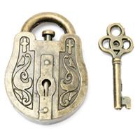 brinquedos educativos vintage venda por atacado-Atacado-Metal Vintage Cast Deus Bloqueio Key Puzzle Toy IQEQ Mente Cérebro Teaser Souptoys Presente Intelectual Educacional Para Crianças Adulto