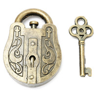 Wholesale Metal Mind Teasers - Wholesale- Vintage Metal Cast God Lock Key Puzzle Toy IQ&EQ Mind Brain Teaser Souptoys Gift Intellectual Educational For Children Adult