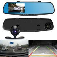 Wholesale Rear Front Camera Dvr Car - Full HD PZ916 Car DVR 4.3 Inch Car Dash Camera Dual Carema Vehicle Front Rear DVR Lens Recorder HD Video 1080p