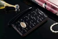 сотовые телефоны iphone 5s оптовых-Роскошные Bling Diamond Wallet ПУ Кожа Чехлы для сотовых телефонов Rhinestone сложите кошелек Слот для кредитной карты Крышка для iphone7 / 7plus 6 6Splus 5S Samsung