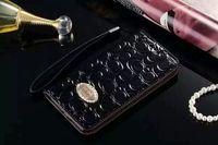 bling credit card case toptan satış-Lüks Bling Elmas Cüzdan PU Deri Cep telefonu kılıfları Rhinestone kat cüzdan Kredi Kartı Yuvası Kapak iphone7 / 7 artı 6 6 Splus 5 S Samsung