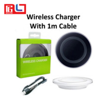 Wholesale Iphone Packaging Uk - Qi Wireless Charger with 100cm cable not fast Charging For Samsung Galaxy S8 Note 8 Iphone 8 Iphone X With Package USB Cable