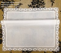 "Wholesale Vintage Style Handkerchiefs - Home Textiles Women Handkerchief Perfect Irish crochet lace Style 12PCS Lot 12""x12"" Cotton Vintage Hankies Wedding Ladies Bridal hanky"