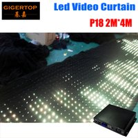 P18 2M * 4M LED Vison Curtain Com Off Line Mode Controller Tricolor Led Video Cortina Para DJ Wedding Backdrops