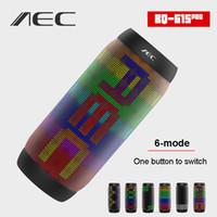 radios de colores al por mayor-BQ-615 Pro Bluetooth NFC LED Altavoz de colores LED de luz Caja de sonido portátil inalámbrico Hi-Fi altavoces estéreo Compatible con Mic FM Radio TF USB Player