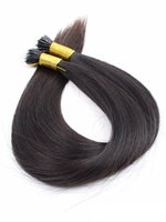Wholesale Brazil Remy Hair - 8A 1g s 100g 1pcs 1B# 10-26inch Brazil Remy Hair Pre-Bonded I Tip Stick Hair Extension Factory Outlet