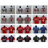 Wholesale Molina Baseball - Men Cardinals baseball jerseys #4 Yadier Molina jerseys Red, black, white, blue Baseball Jersey