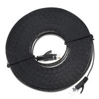 Wholesale High Quality Patch Cables - Wholesale-10M Aurum Cables Flat CAT6 Flat UTP Ethernet Network Cable RJ45 Patch LAN Cable High Quality