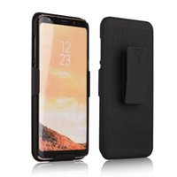 Kickstand Cases Holster Clip Hard Plastic Armor para Iphone X, Galaxy Note 8, S8, S8 Plus Hip Rotatable Hybrid 2 en 1 Clip Belt Combo Stand