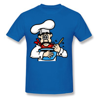 Wholesale nice costumes - Adult Short Sleeve T Shirt Cook Cooking Cool Shirts For Guys Hombre Short Sleeve Tee Blue Costume O-Neck Mens Nice Shirts