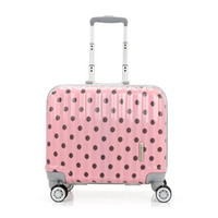 Wholesale Pink Spinner Luggage - Universal wheel pull rod box small boarding a flight attendant trunk female 16 inch luggage hard case