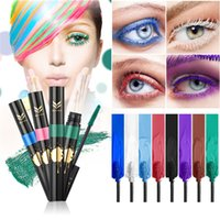Wholesale Rainbow Lashes - Rainbow Colorful Mascara Professional Eye Lashes Curling Mascaras Thick Lengthening Dense Waterproof Cosmetics 1218006