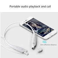 Wholesale Micphone Headset - HBS 730 Headphone Stereo Bluetooth Sport Wireless Neckband Earphone Headset with Micphone HBS-730 for iPhone Smartphones with Retail Package