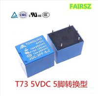 Wholesale 5vdc Relay - 5V relay 5 pins conversion type10A 250VAC T73 can replace JQC-3FF SRD-5VDC-SL-C 50pcs lot