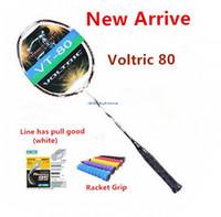 Wholesale New G4 - New Voltric 80 badminton racket Bow arrow carbon VT80 Badminton Rackets 1pcs