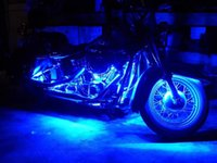 Wholesale Motorcycle Red Blue Lights - Motorcycle led lights-6PCS RGB LED-Control Car Light Atmosphere Strip Kits