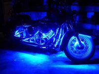 Wholesale Motorcycle Strip Lights - Motorcycle led lights-6PCS RGB LED-Control Car Light Atmosphere Strip Kits