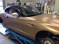 Wholesale Vinyl Wrap Gold Film - champagne gold matte chrome metallic Vinyl Car Wrap Film with With Air bubbles Free Vehicle wrapping foil 1.52x20m Roll (5x67ft )