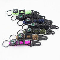 Wholesale Braiding Equipment - Multifunctional Climbing Key Rings With Compass Key Chain High Quality Paracord Braided Outdoor Survival Equipment