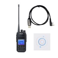 Wholesale Dmr Digital Radios - Wholesale- TYT Tytera MD-380 UHF 400-480MHz DMR Digital Radio 1000 Channels CTCSS DCS Walkie Talkie with USB Programming Cable CD md380