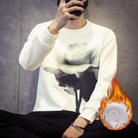 metrosexuelle kleidung großhandel-Die 2017 Explosion des Winters mit Samt Langarm-Shirt XL Männer Fett Jugend Winterkleidung Metrosexual Shirt Druck stieg