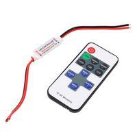 UK led remote dimmers - Wholesale-Mini Wireless Single Color Remote Control Dimmer DC 12V 11keys RF LED Controller For Led Strip Light