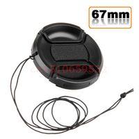 Wholesale Nex F3 - Wholesale-2pcs 67mm Lens Cap Cover For S&ny Nex NEX-5N 3N 3C F3 5 C3 5C NEX-7 6L NEX 18-200 With Anti-lost Rope Track Number