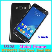 "Wholesale Back Up Camera Color - Android Smartphone D205 MTK6572 Dual Core 3G Unlocked Dual SIM Cameras 512MB 4GB Smart Wake-up Metal Frame 5"" Mobile phones retail package"