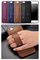 Wholesale Leather Shell Pouches - For iphone 7 6 Plus 5S Commercial Cases PU Leather Case Cover Hand Holder Stand Case Retro Hard Shell Pouch For iPhone6S i7 i6 Plus PP Bag