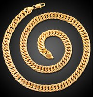 Real Heavy 24k Men's Gold-Color FINITION THICK MIAMI CUBAN LINK CHAÎNE DE COLLIER 10mm 60CM