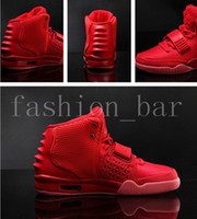 Wholesale solar red - Red October Solar Red Platinum wolf grey pure platinum 2017 Basketball Shoes with dust bag size eur 36-47 free shipping wholesale