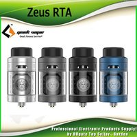 Wholesale Tank Leak - Original GeekVape Zeus RTA Atomizer Velocity Style Dual-pole Design 4ml Leak Proof RTA Tank Flavor with 3D airflow 100% Authentic