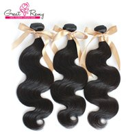 Wholesale queen hair for sale - Group buy Queen Hair Products Brazilian Virgin Hair Remy Human Hair Weave Wavy Body Wave Natural Color Dyeable Doublel Weft