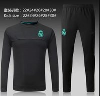 2017 nuevo real madrid kids soccer training trajes Uniformes camisas fútbol futbol Ronaldo manga larga Survetement chándales